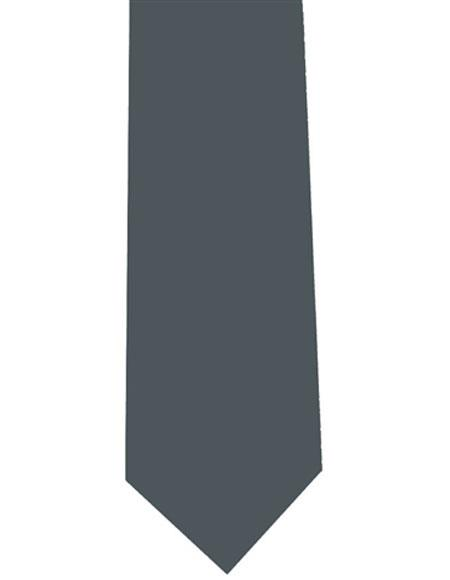 Charcoal Mens Polyester Extra Long Neck Tie