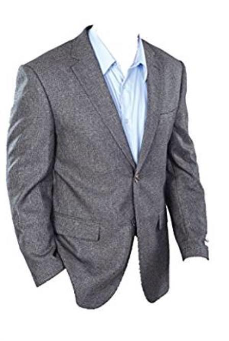Mens Classic Fit Sport Jacket Charcoal Grey