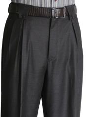 Mens Charcoal   Classic Fit Mens Wide Leg Trousers