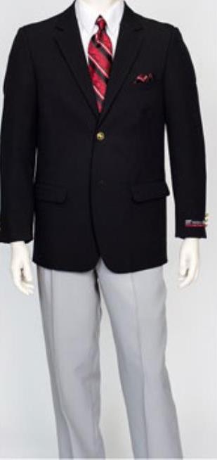 Pacelli Men's Classic Black 2 Button Jacket Blair