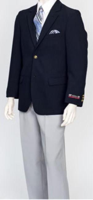 Pacelli Men's Classic Navy 2 Button Jacket Blair