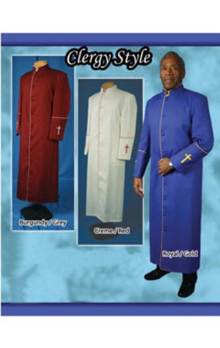 Clergywear Preacher Suit Navy/White