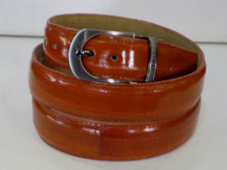 Buy AC-861 Mens Genuine Authentic Cognac Eel Belt
