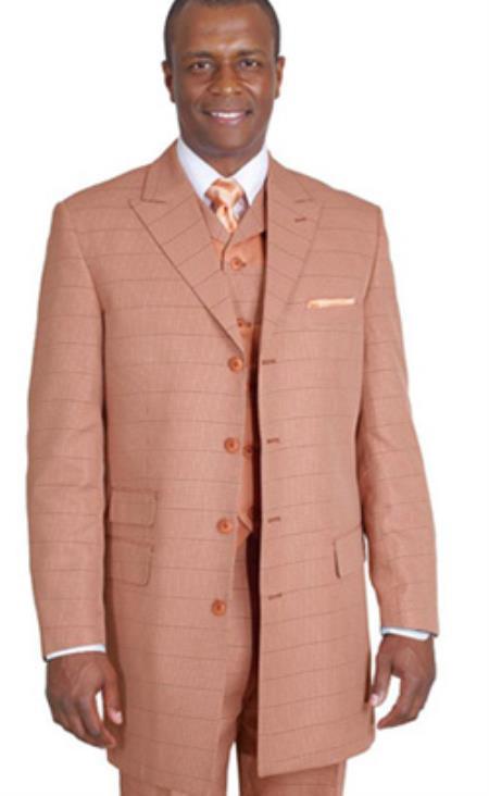 Rust~Peach~Copper~Cognac Plaid Vested Vested