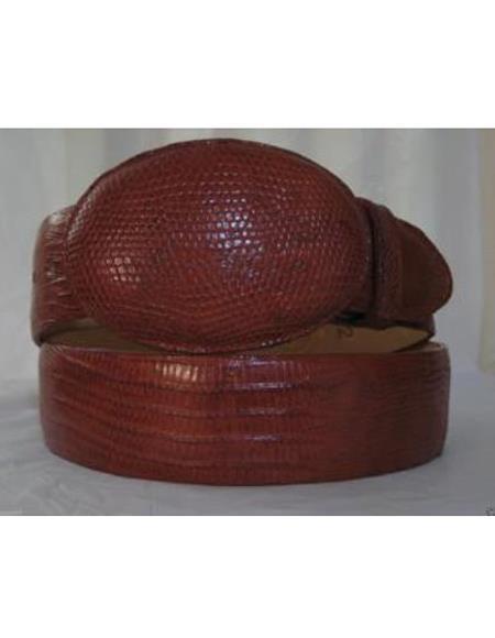 Genuine Authentic Cognac Lizard Teju Western Cowboy Belt