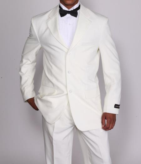 Mens 2 Pieces High Fashion Cream Tuxedo Suit with Flexible Waistband T802