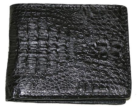 Men's Genuine Exotic Animal Skin Wallet ~ billetera ~ CARTERAS Hornback Wallet Black