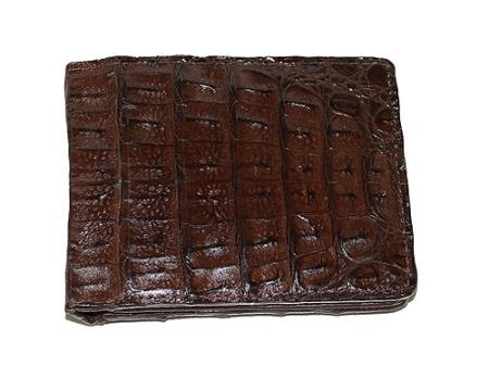Mens Genuine Exotic Animal Skin Wallet ~ billetera ~ CARTERAS Hornback Wallet Brown