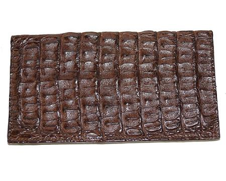 Mens Genuine Exotic Animal Skin Wallet ~ billetera ~ CARTERAS Large Hornback Wallet Brown