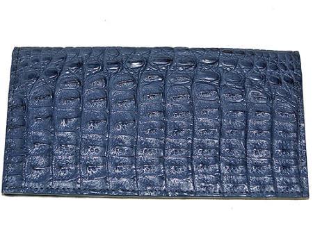 Men's Genuine Exotic Animal Skin Wallet ~ billetera ~ CARTERAS Large Hornback Wallet Navy