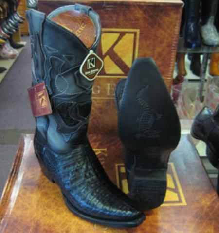 Mens King Exotic Cowboy Style By los altos botas For Sale Snip Toe Genuine Crocodile Western Cowboy Dress Cowboy Boot Cheap Priced For Sale Online Black