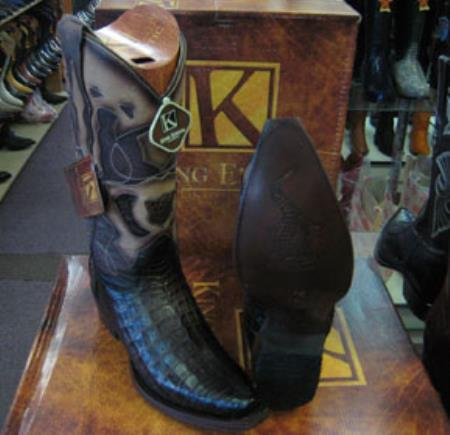 Buy MK955 Mens Genunie Crocodile King Exotic Snip Toe Western Cowboy Brown Boot