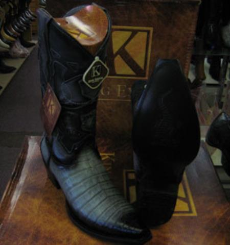 Mens King Exotic Cowboy Style By los altos botas For Sale Snip Toe Genuine Crocodile Western Cowboy Dress Cowboy Boot Cheap Priced For Sale Online Gray