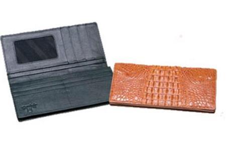 SKU#VX3412 Ferrini Hornback Crocodile Checkbook