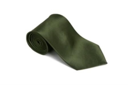 SKU#GB445 Cypress 100% Silk Solid Necktie With Handkerchief