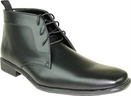 SKU#SS-78R6 Dress Boot Fashion Tuxedo for Wedding Black