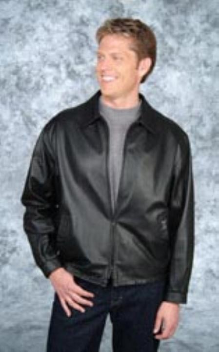 SKU#TC632 City jacket Black/Brown Trim
