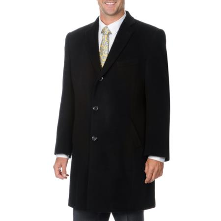 Mens Dress Coat Ram Black Cashmere Blend Herringbone Car coat Overcoat ~ Topcoat Tweed houndstooth checkered Pattern