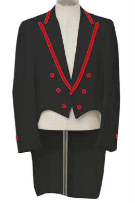 Black Tailcoat Tuxedo With