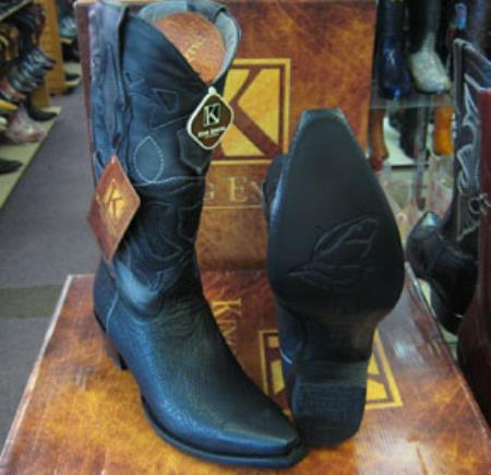 Buy MK935 Mens King Exotic Genunie Shark Black Snip Toe Western Cowboy Boot