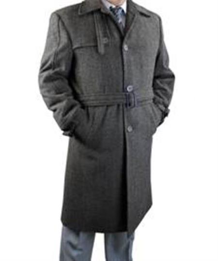 Buy SS-7621 Mens 3 Button Overcoat Available Dark Brown