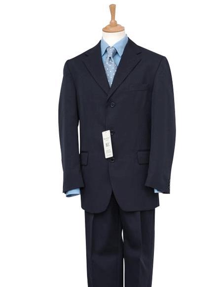 Mens Dark Navy Blue Suit For Men  Discount Dress 2/3/4 Button Cheap Priced Business - Wedding