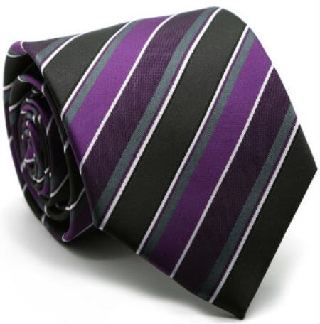 Men's Premium Diamond Patterned Ties Purple