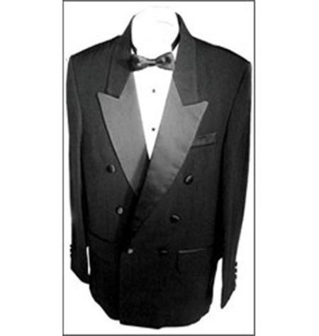 SKU#KA1185 Double Breasted Mens Tuxedo Stripe on Pants 6 on 1 Button Closer Style Jacket
