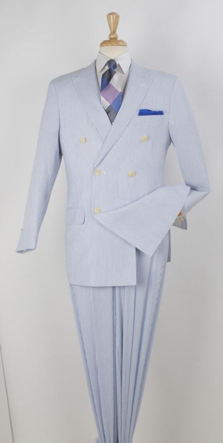2 Piece Seersucker Suit