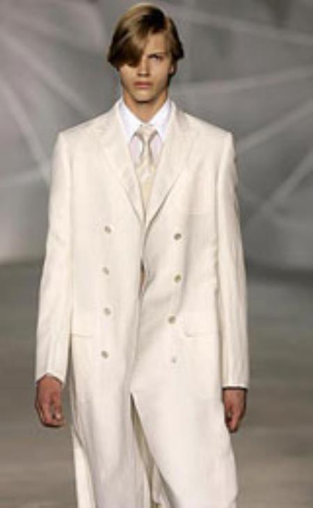 Breasted Cream/ivory/off white Peacoat