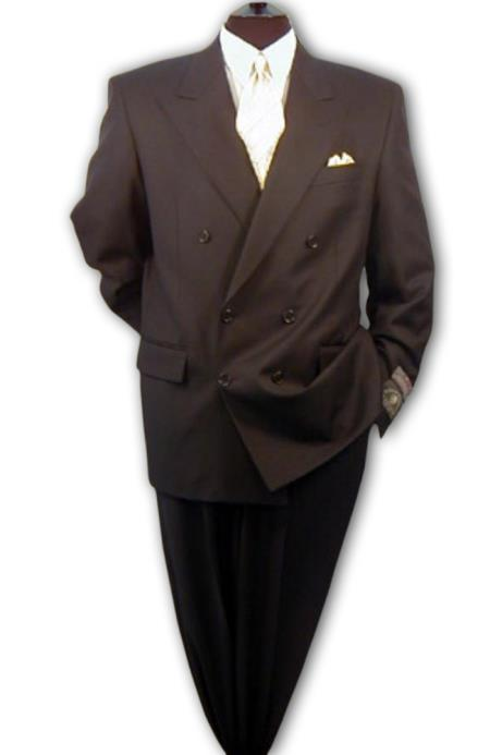 Double Breasted Suit Men's Suit, 100% Wool Super 120's, Style Ultra Fashion $189 (Wholesale Price available)