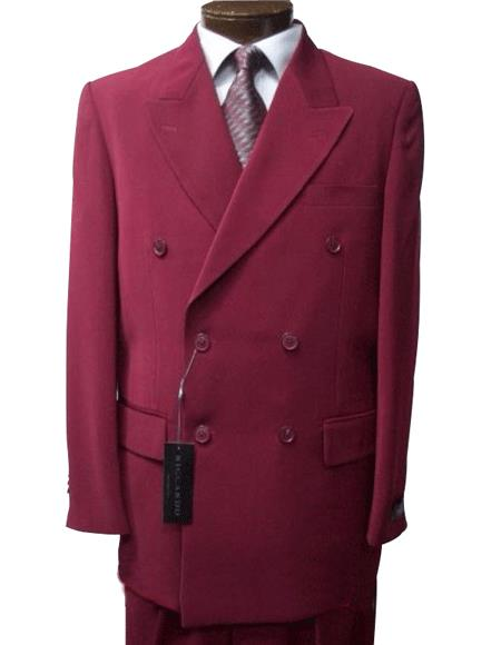 Burgundy ~ Maroon Suit ~ Wine Color Double Breasted Suits