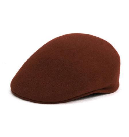 Men's Dress Hats Dark Brown English Cap Hat