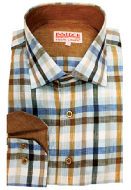 Linen Mens Dress Shirt