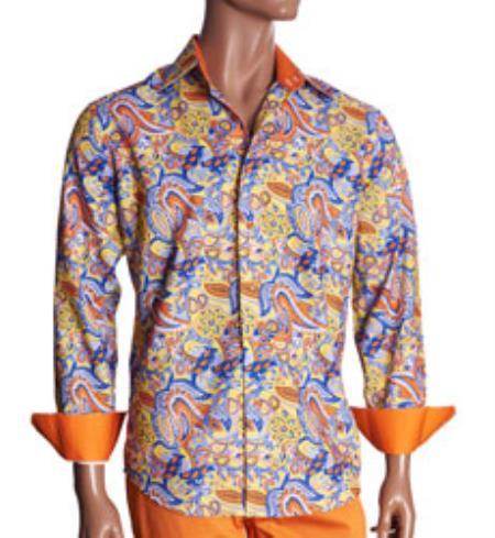 Print Mens Dress Shirt