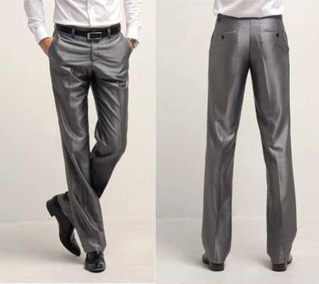 Shiny Sharkskin Flashy Dress Slack ~ Dress Pants Available In Black,Ivory,White,Navy Blue,Silver,Charcoal Grey