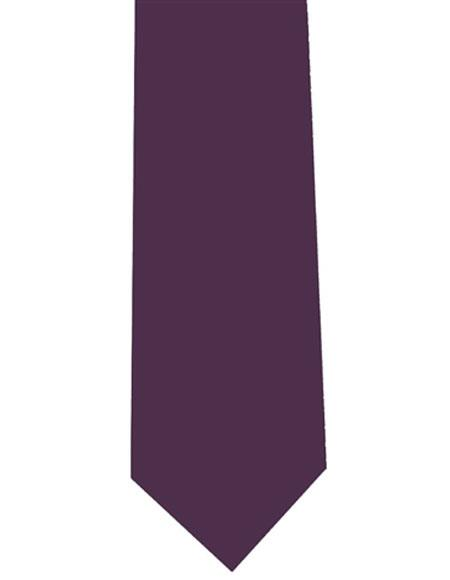 Men's Neck Tie Eggplant Polyester Extra Long