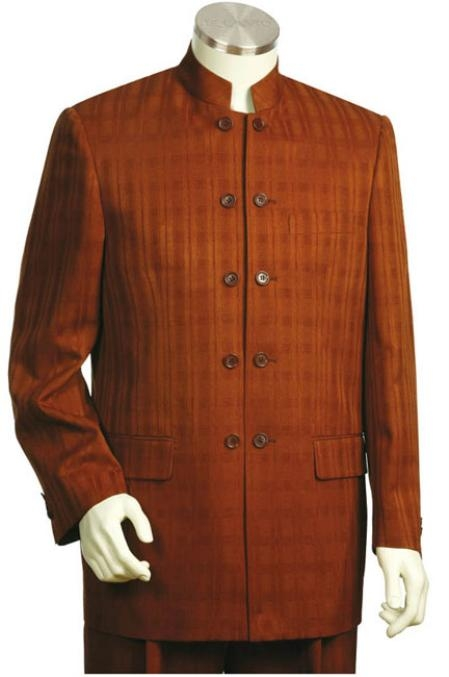 SKU#RU6784 Mens 2pc Fashion Suit Collection Rust $195
