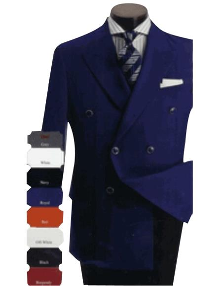 Mens Fashion Double breasted Blazers Sport coat Available in many colors