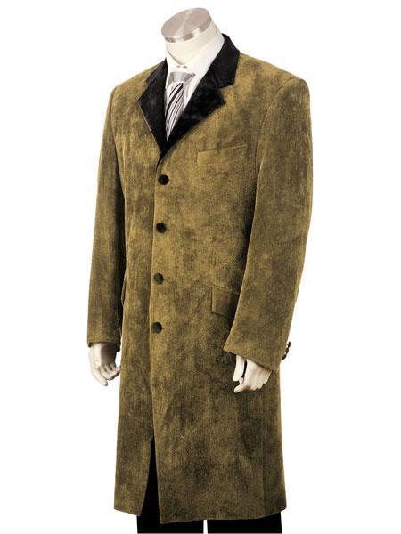 Men's 3pc suit vested Brown zoot suit