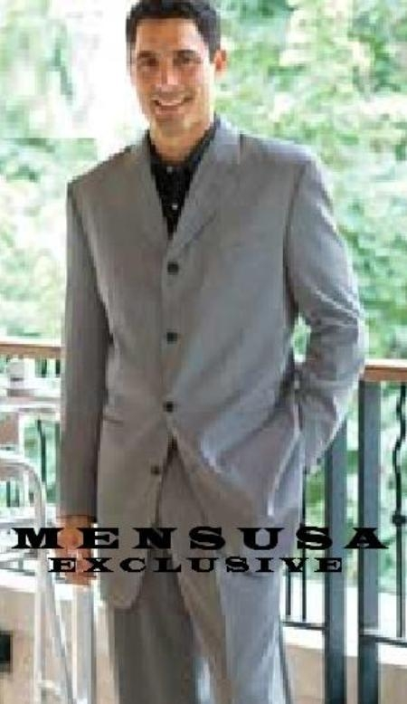 SKU# CG4 Dark Midium Gray Mens 4 Button Super Fine Suits Come in 4 Colors