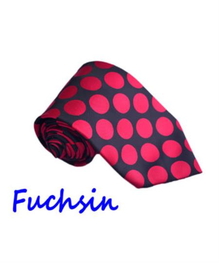 Buy SS-762 Longstry Men's Fuchsin Fashion Jacquard Woven Design Milano Moda Polyester