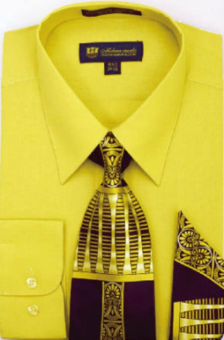 Gold 65% Polyster 35% Cotton Cotton Ties and Handkerchiefs