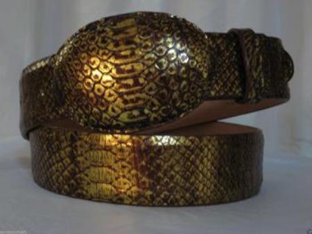 Gold Python Snake Western