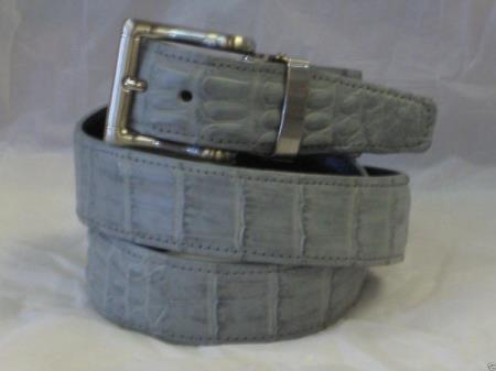 Genuine Authentic Gray Crocodile