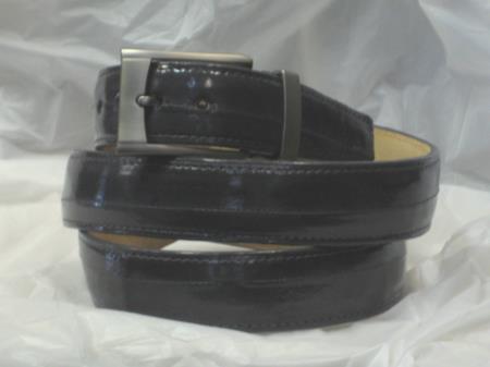 4HL7 Mens Genuine Authentic Gray Eel Belt