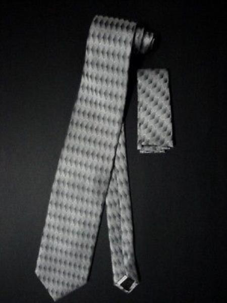 Tie W Hankie Gray