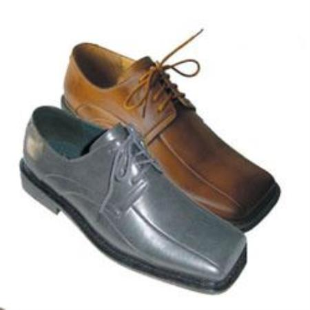Mens Dress Shoes Available in Gray and Brown Colors