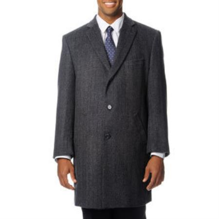 Mens Dress Coat Ram Grey Cashmere Blend Herringbone Car coat Overcoat ~ Topcoat Tweed houndstooth checkered Pattern