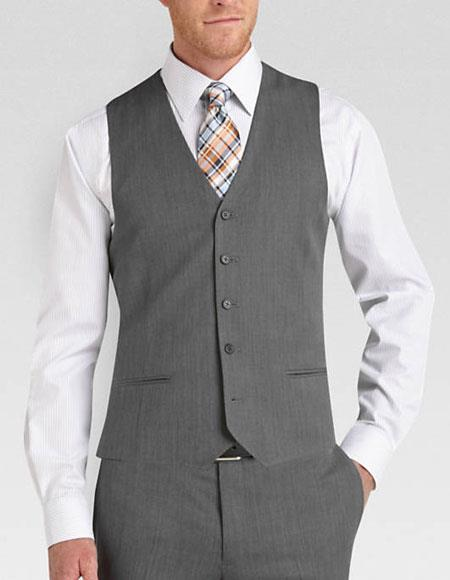 Buy AA431 Mens Color Matching Vest & Pants Set Plus Color Shirt & Tie Bow Tie Set Package Grey